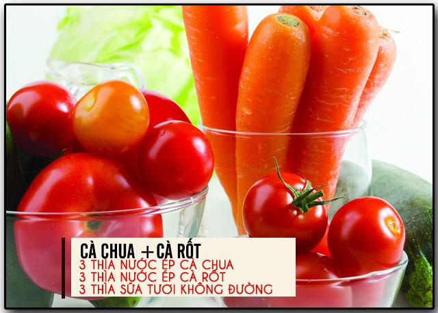 làm đẹp bằng cà chua và cà rốt