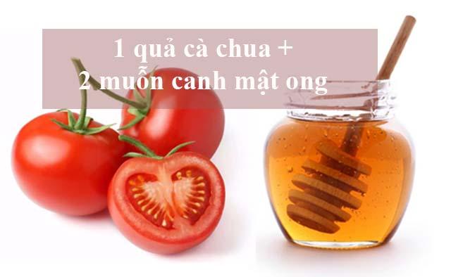 Mẹo trị mụn bằng mật ong và cà chua