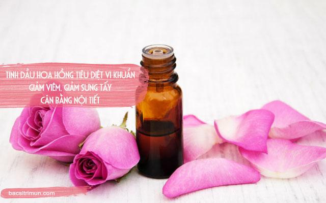 làm đẹp với tinh dầu hoa hồng