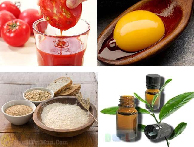 Cách trị mụn đầu trắng bằng cà chua, lòng đỏ, bột yến mạch và tinh dầu oải hương