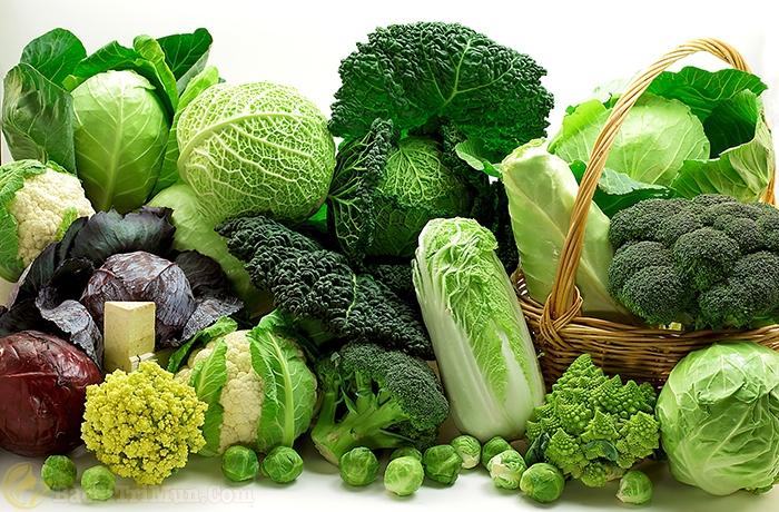 Rau xanh là nguyên liệu chứa acid salicylic