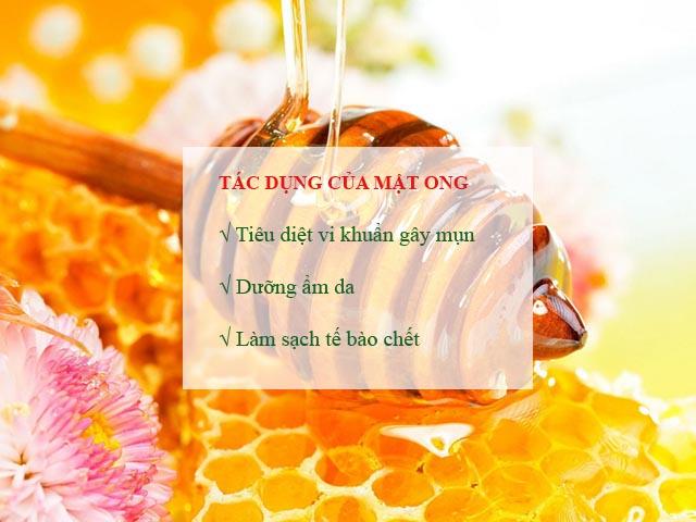 trị mụn đầu đen ở má tại nhà bằng mật ong