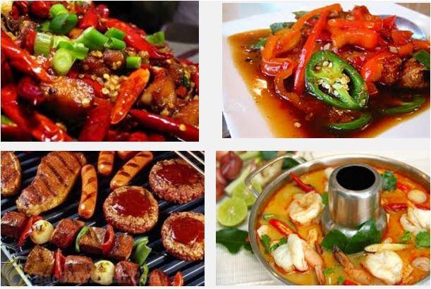 thức ăn cay, nóng