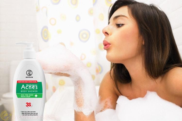 Hướng dẫn cách dùng sữa tắm Acnes Body Shower