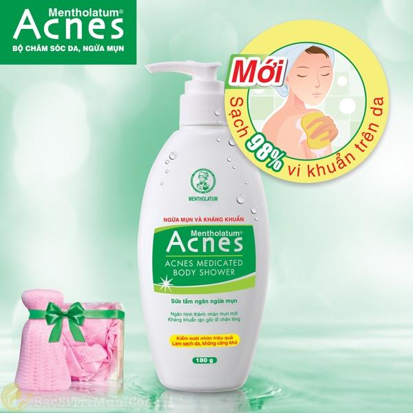 Sữa tắm Acnes Body Shower chăm sóc da, trị mụn