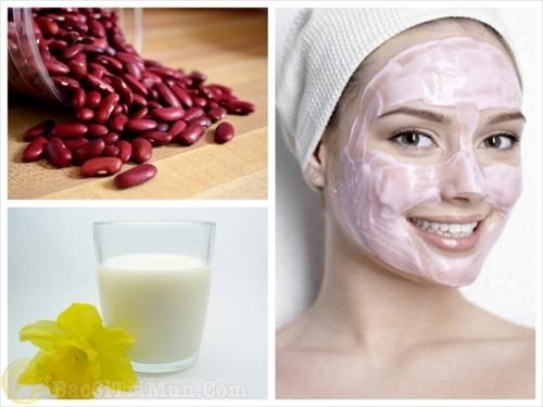 đắp mặt nạ đậu đỏ giúp da trắng sáng mịn màng