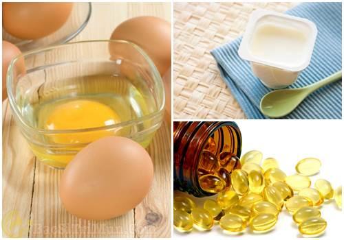 Trị mụn cám bằng trứng gà, sữa chua và vitamin E