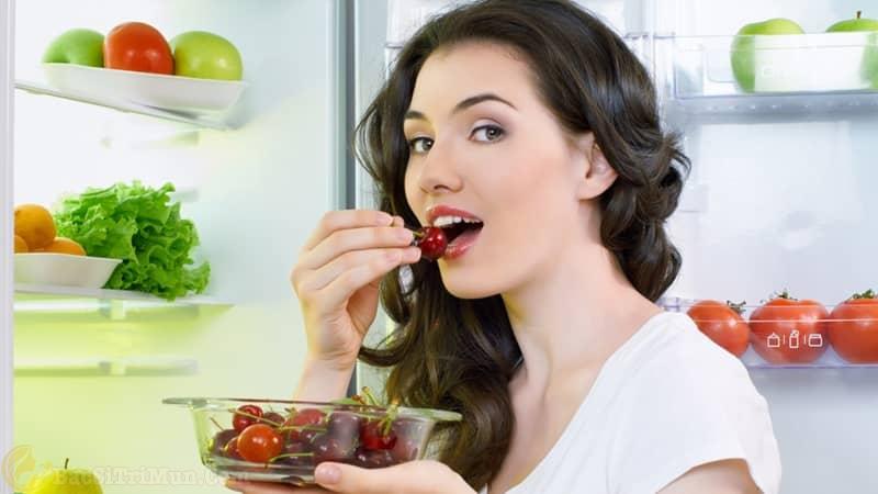 Bổ sung cho cơ thể các loại rau xanh và trái cây