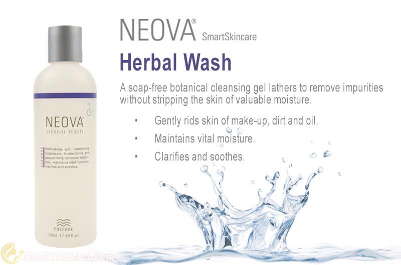 Sữa rửa mặt trị mụn cho da nhờn Neova Herbal Wash