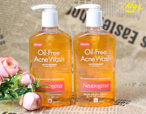Sữa rửa mặt trị mụn cho da nhờn Neutrogena Oil-Free Acne Wash