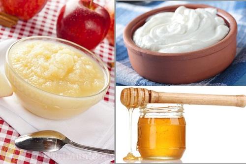 Giấm táo + Mật ong + Sữa chua