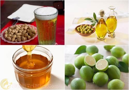 Chanh + Mật ong + Bia + Dầu oliu