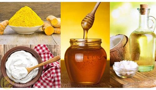 Mặt nạ sữa chua, nghệ, mật ong, dầu dừa ngăn ngừa mụn ẩn dưới da tái phát
