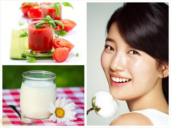 Điều trị mụn cám bằng cà chua và sữa chua