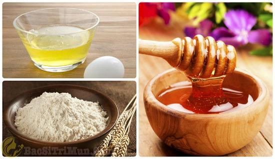 Bột yến mạch, mật ong, trứng gà trị mụn ẩn dưới da
