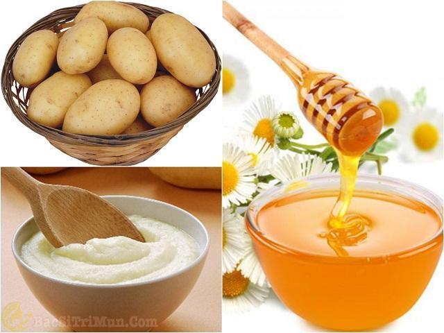 Mặt nạ khoai tây, sữa chua, mật ong trị vết thâm mụn hiệu quả