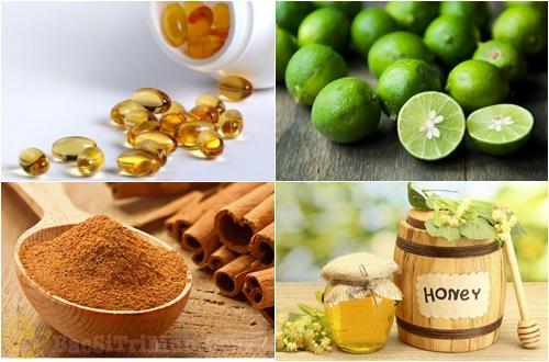 Vitamin E, chanh, bột quế, mật ong - Mặt nạ trị thâm mụn, dưỡng trắngda