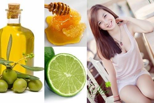 Trị vết thâm mụn bằng mật ong và chanh, dầu oliu