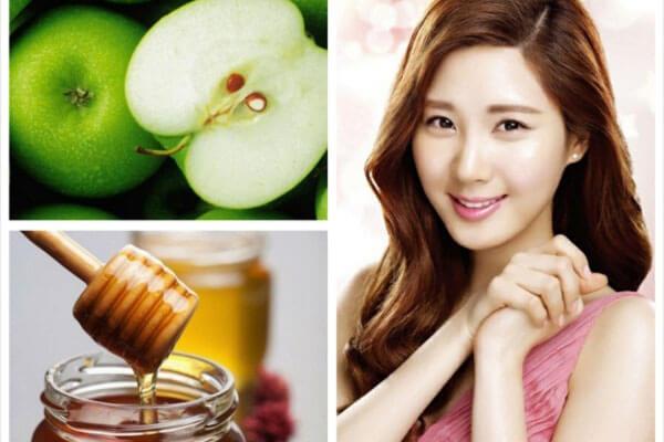Trị thâm mụn bằng mật ong và táo