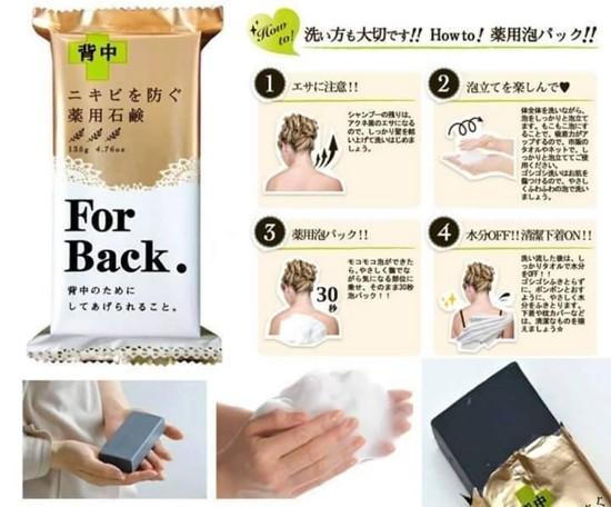Cách sử dụng xà phòng trị mụn lưng For Back