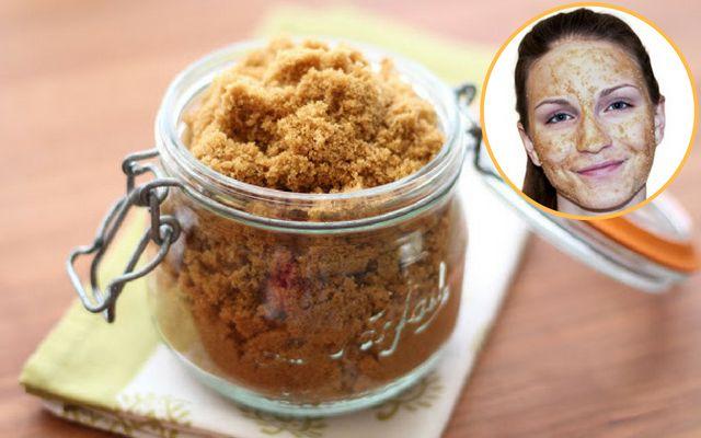 Mặt nạ đường nâu giúp tẩy sạch tế bào chết cho da