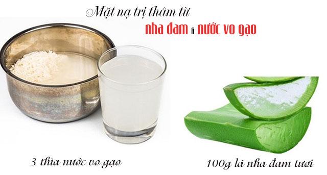 Mặt nạ tự nhiên giúp da trắng mịn từ nha đam và nước vo gạo