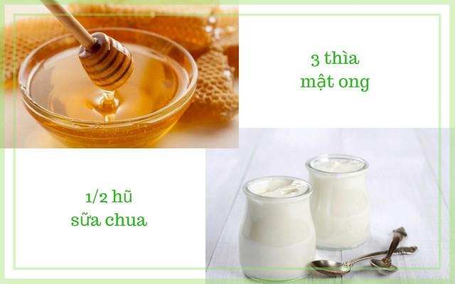 Cách trị mụn cám trên má cực hay với mật ong và sữa chua