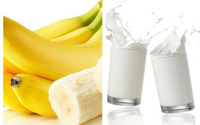 Dùng chuối và sữa tươi trị mụn bọc tại nhà