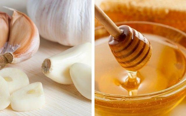 điều trị mụn bọc bằng tỏi và mật ong