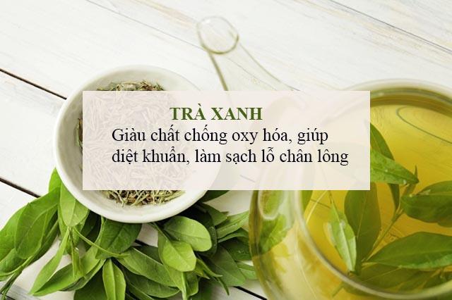 Cách trị mụn cám trên trán hiệu quả bằng trà xanh