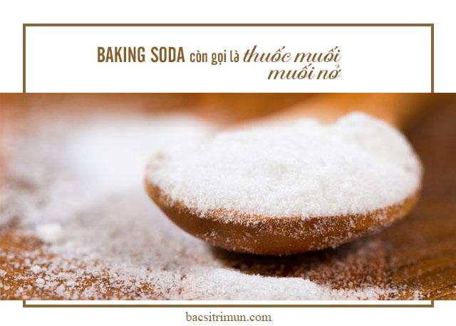 baking soda trị mụn đầu đen