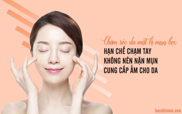 chăm sóc da mặt bị mụn hiệu quả