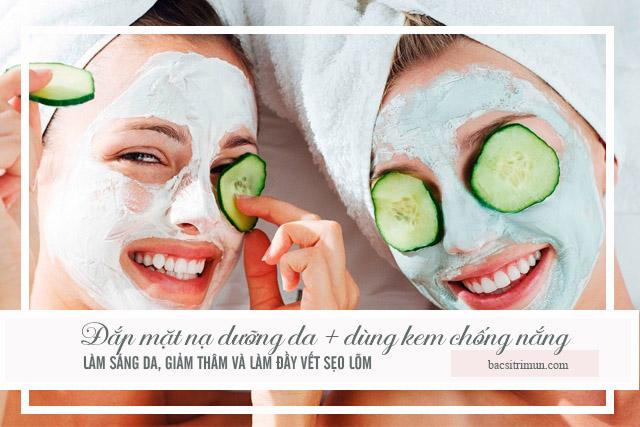 đắp mặt nạ chăm sóc da sau mụn