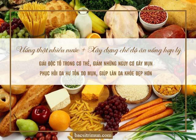 chế độ ăn uống để chăm sóc da sau mụn
