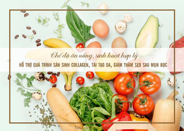 chế độ ăn uống để chăm sóc da bị mụn bọc