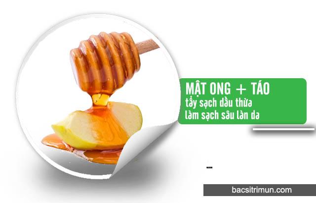 mật ong và táo trị mụn cho da dầu