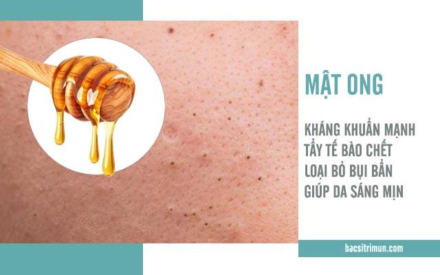 công dụng trị mụn của mật ong