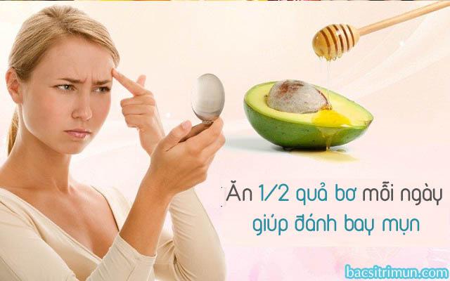 Ăn bơ trị mụn hiệu quả