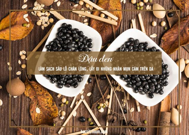 cách trị mụn cám bằng phương pháp tự nhiên với đậu đen