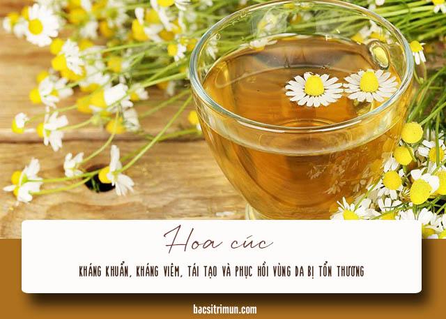 cách trị mụn cám cho nam bằng hoa cúc