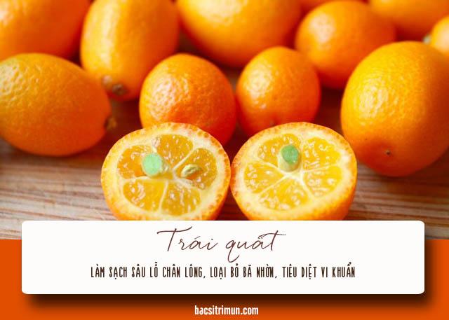 cách trị mụn cám cho nam bằng trái quất