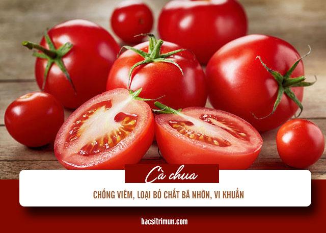 cách trị mụn trứng cá cho da dầu bằng cà chua