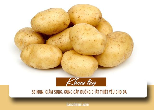 Cách trị mụn trứng cá viêm bằng khoai tây