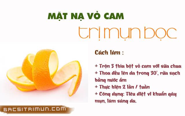 Vỏ cam là một trong những thực phẩm trị mụn bọc tốt nhất