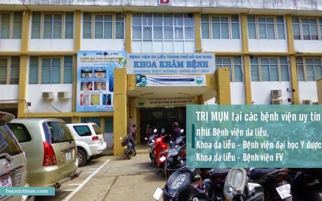 bệnh viện trị mụn ở tphcm
