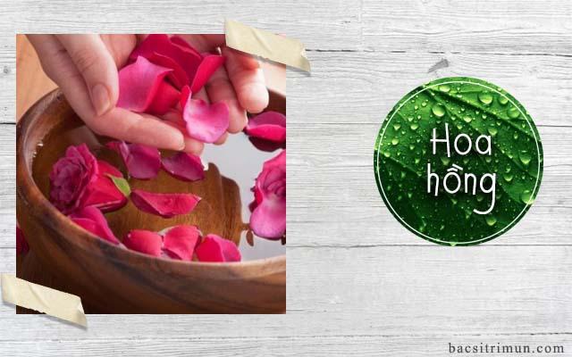 cách trị mụn tại nhà bằng hoa hồng
