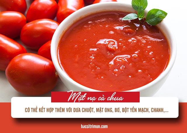 mặt nạ trị mụn đầu đen bằng cà chua