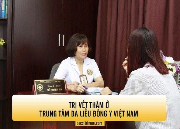Điều trị vết thâm ở Trung tâm Da liễu Đông Y Việt Nam được đánh giá cao bởi kết hợp công nghệ cao với thảo dược Đông y