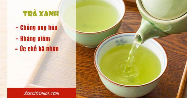 Bị mụn mủ nên ăn trà xanh