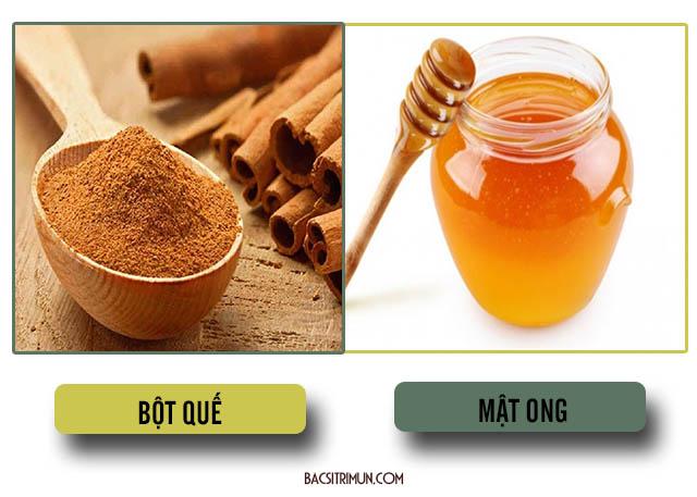 trị mụn bằng bột quế và mật ong